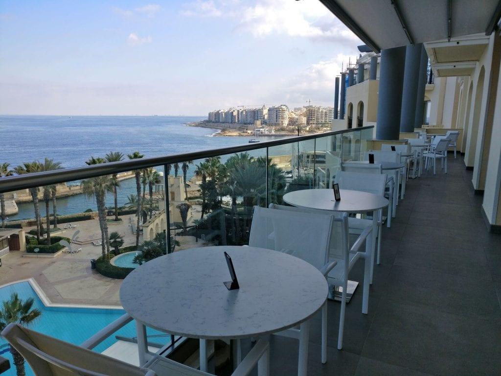 Hilton Malta Executive Lounge Balcony