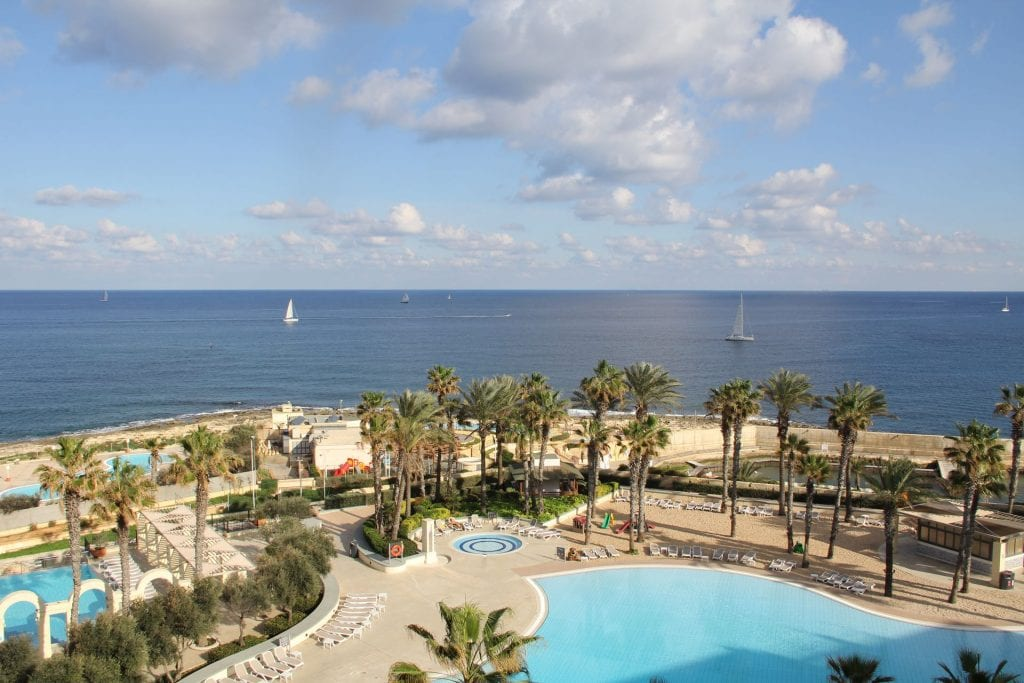Hilton Malta Executive Lounge View 2