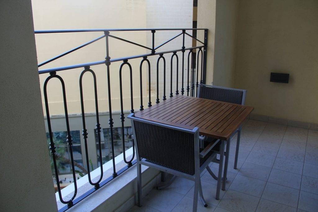 Hilton Malta Suite Balcony