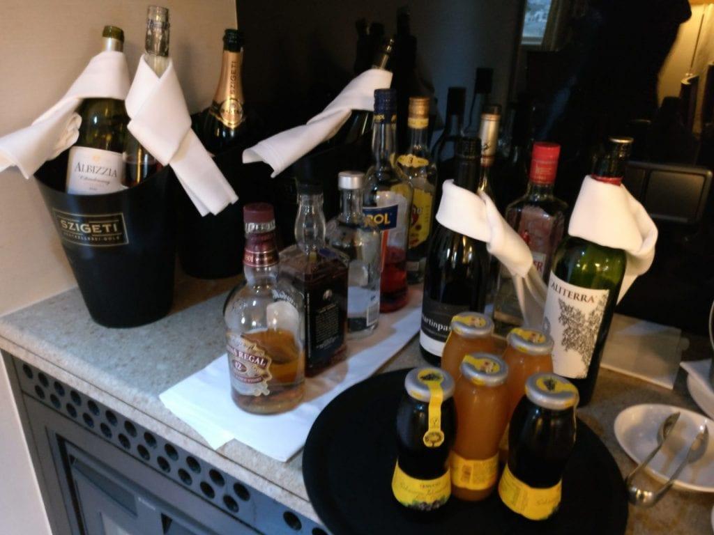 InterContinental Vienna Club Lounge Drinks