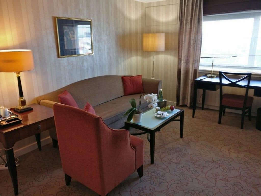 InterContinental Vienna Junior Suite Living Room 2