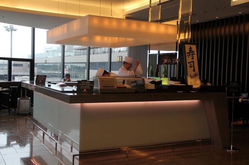 JAL First Class Lounge Tokyo Narita Sushi Bar