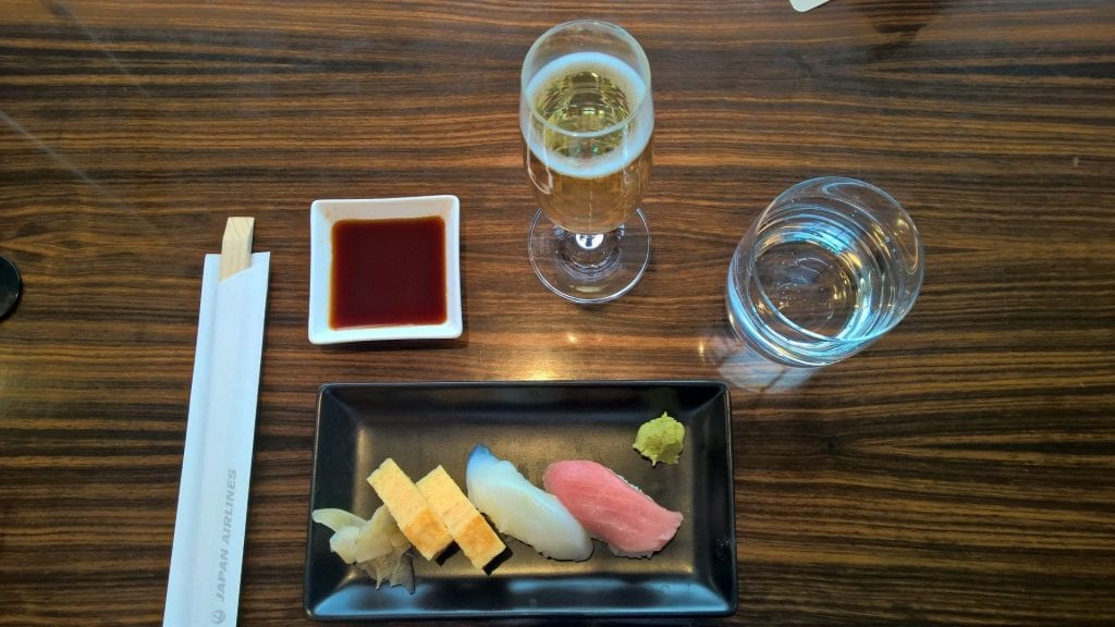 Jal First Class Lounge Tokyo Narita Sushi