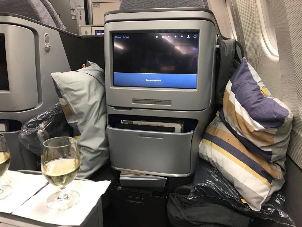 Lufthansa Business Class Sitz 8