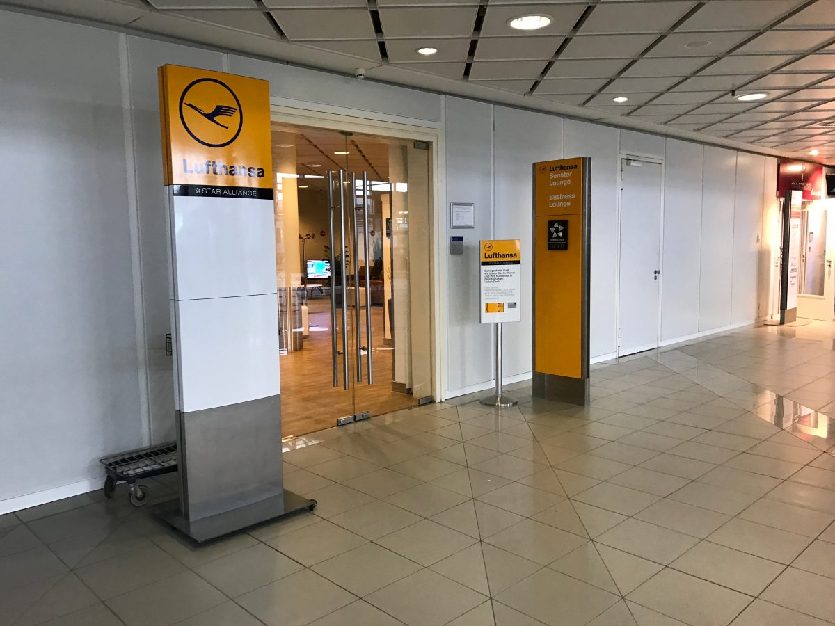 Lufthansa Business Lounge Leipzig Eingang