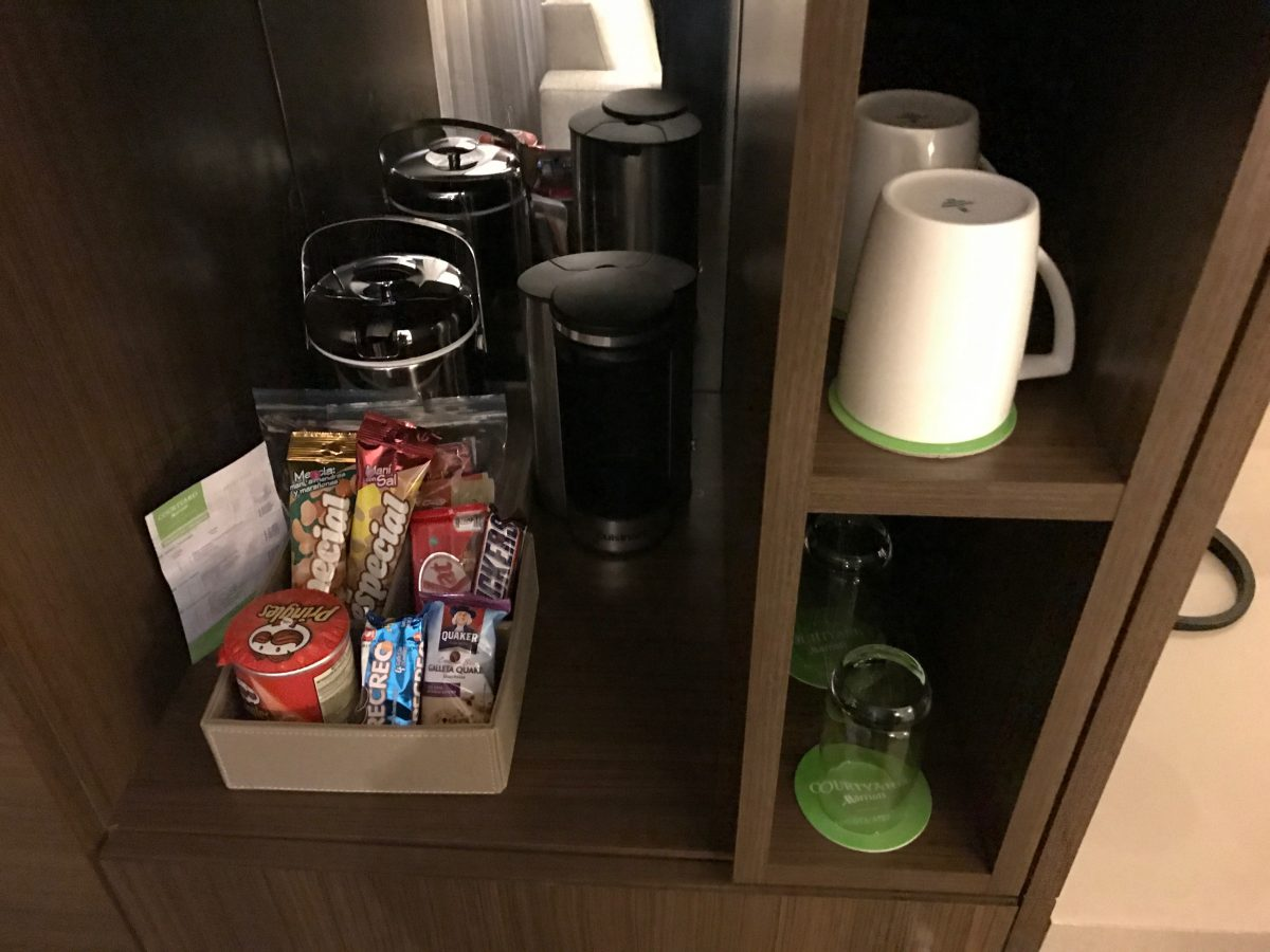 Marriott Bogota Airport Superior Zimmer Snacks