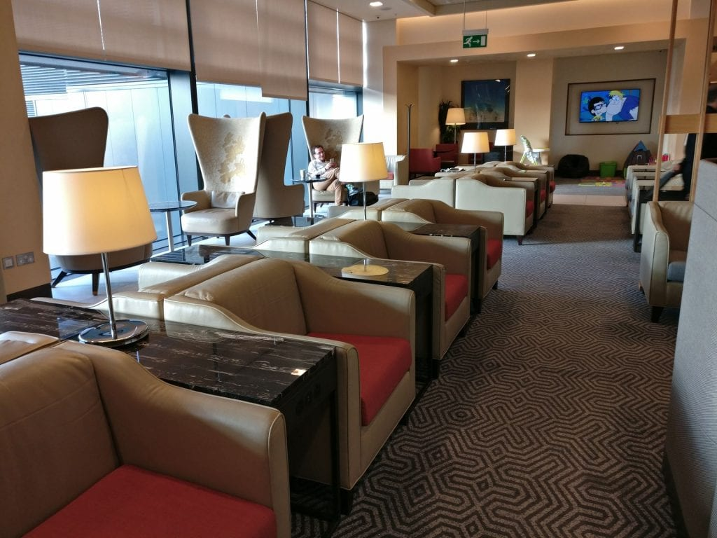 Singapore Airlines Lounge London Heathrow Seating 4