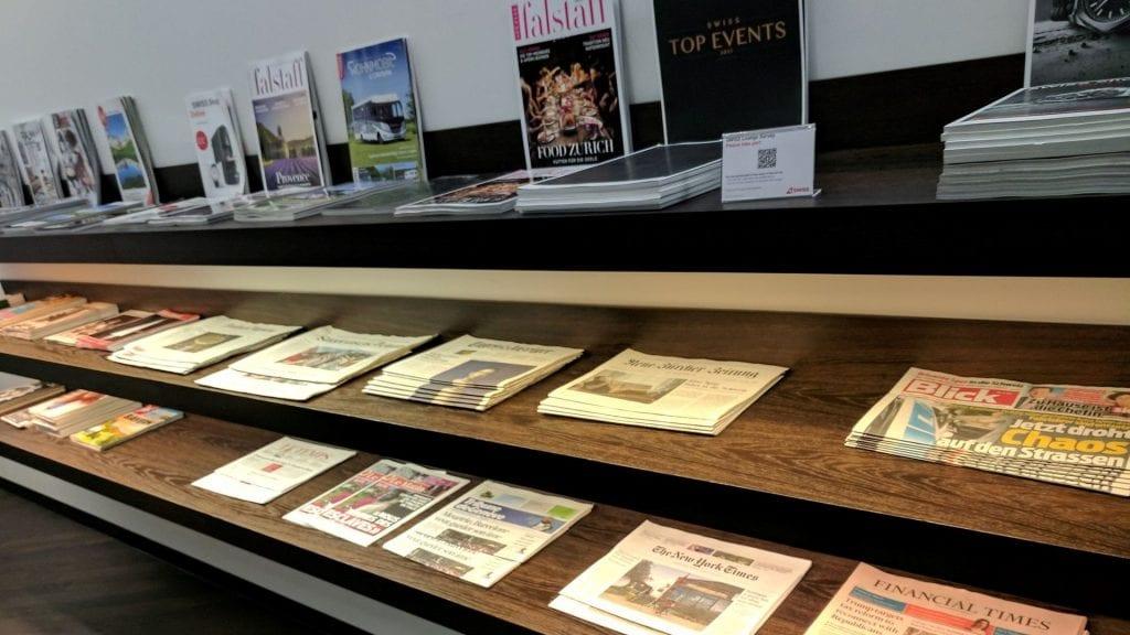 Swiss Arrival Lounge Zürich Zeitungen