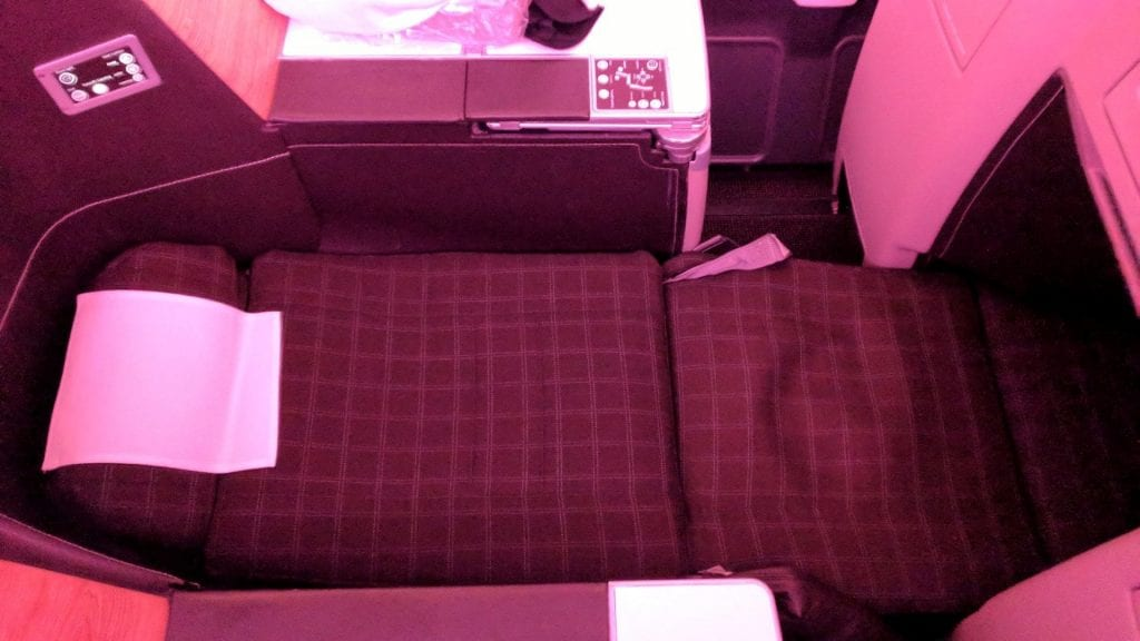 Swiss Business Class Airbus A330 Bett
