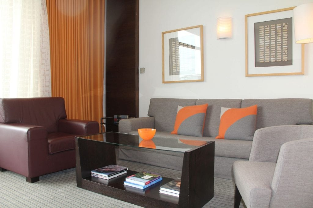 The Lowry Hotel Manchester Suite Wohnzimmer 4