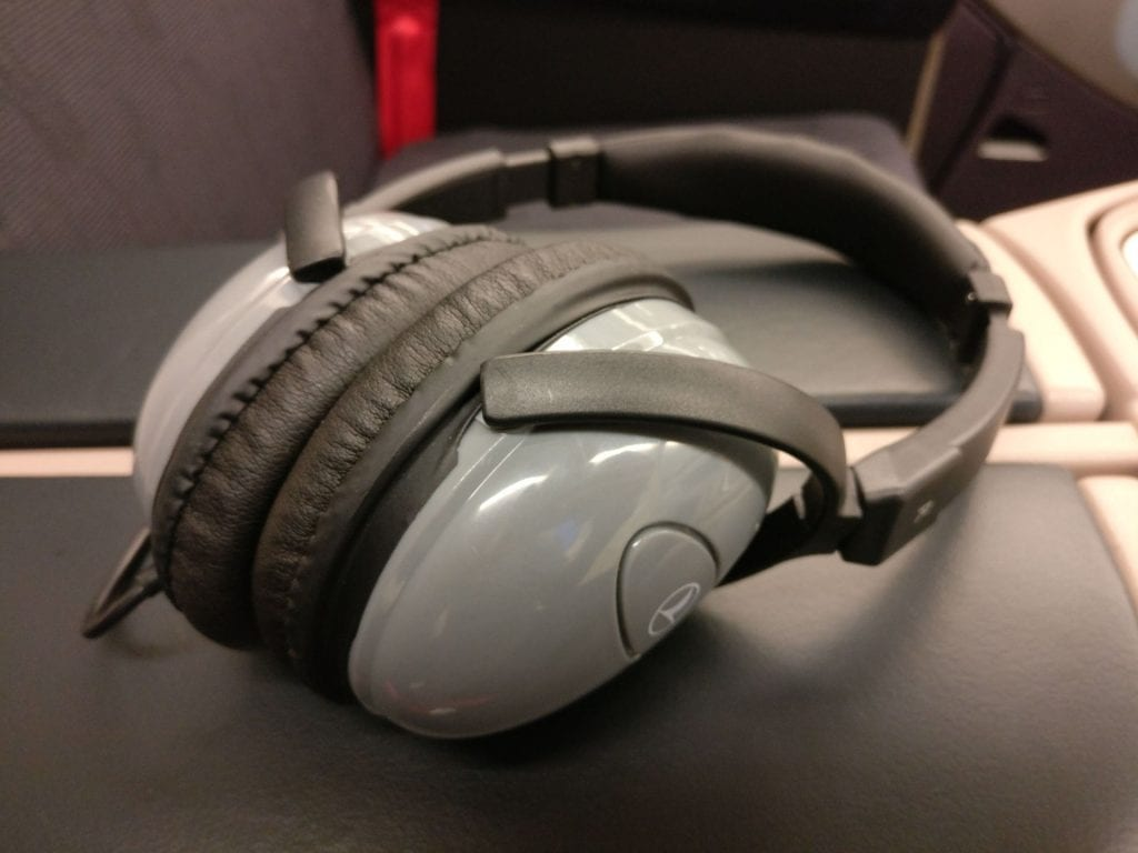 Turkish Airlines Business Class Airbus A330 300 Headphones