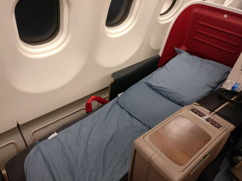Turkish Airlines Business Class Airbus A330 Bed 2