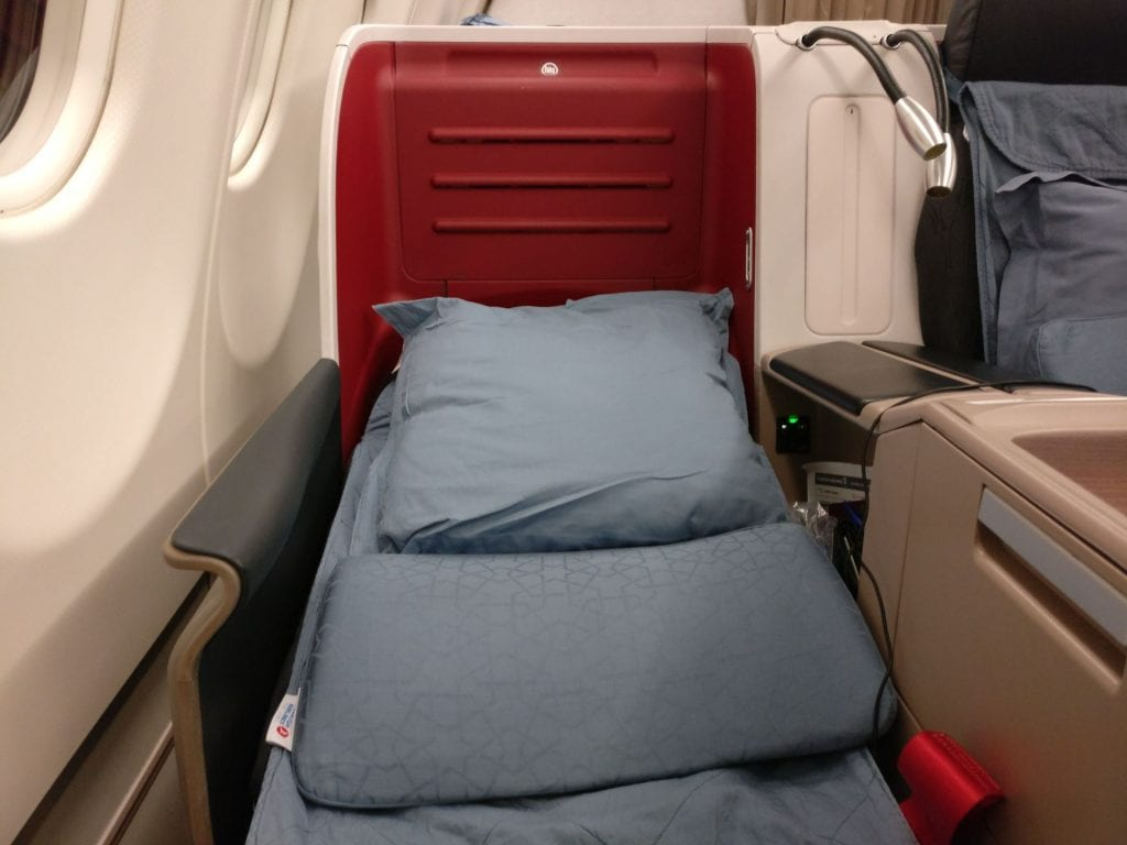 Turkish Airlines Business Class Airbus A330 Bed 3