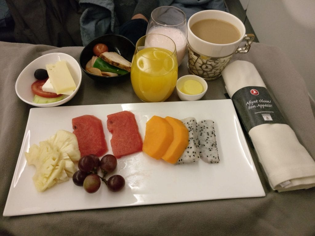 Turkish Airlines Business Class Airbus A330 Breakfast 6