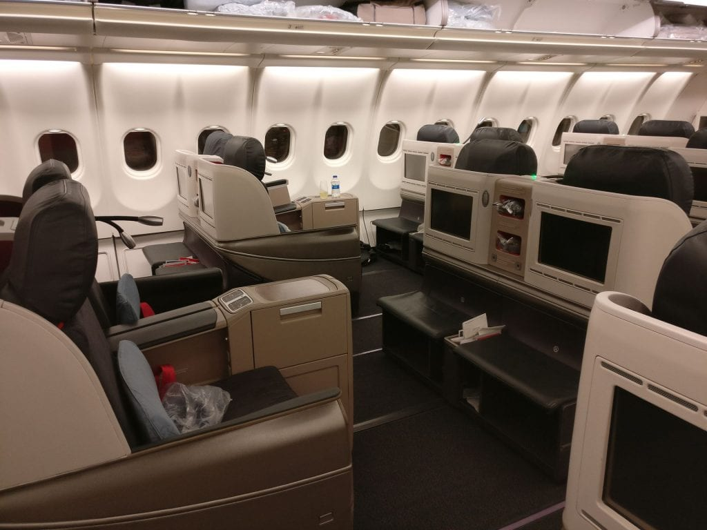 Turkish Airlines Business Class Airbus A330 Cabin 3
