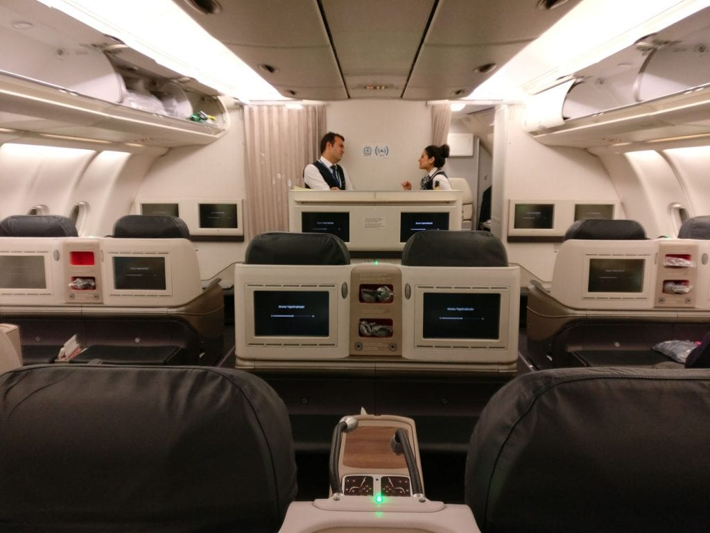Turkish Airlines Business Class Airbus A330 Cabin 4