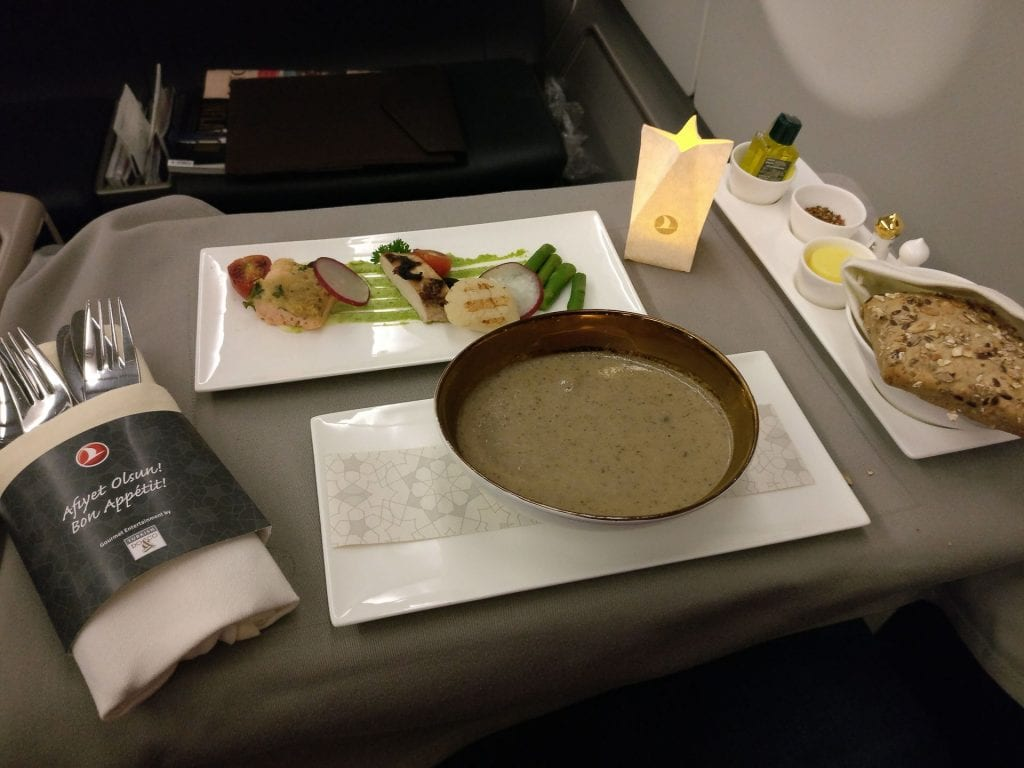 Turkish Airlines Business Class Airbus A330 Dinner 10