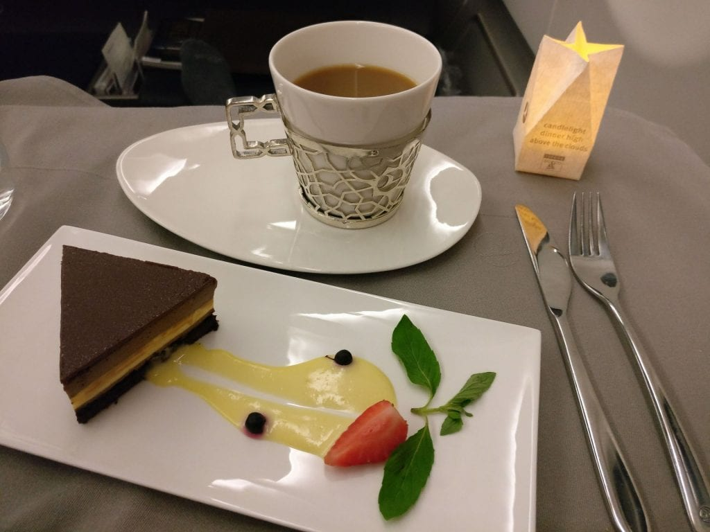 Turkish Airlines Business Class Airbus A330 Dinner 15