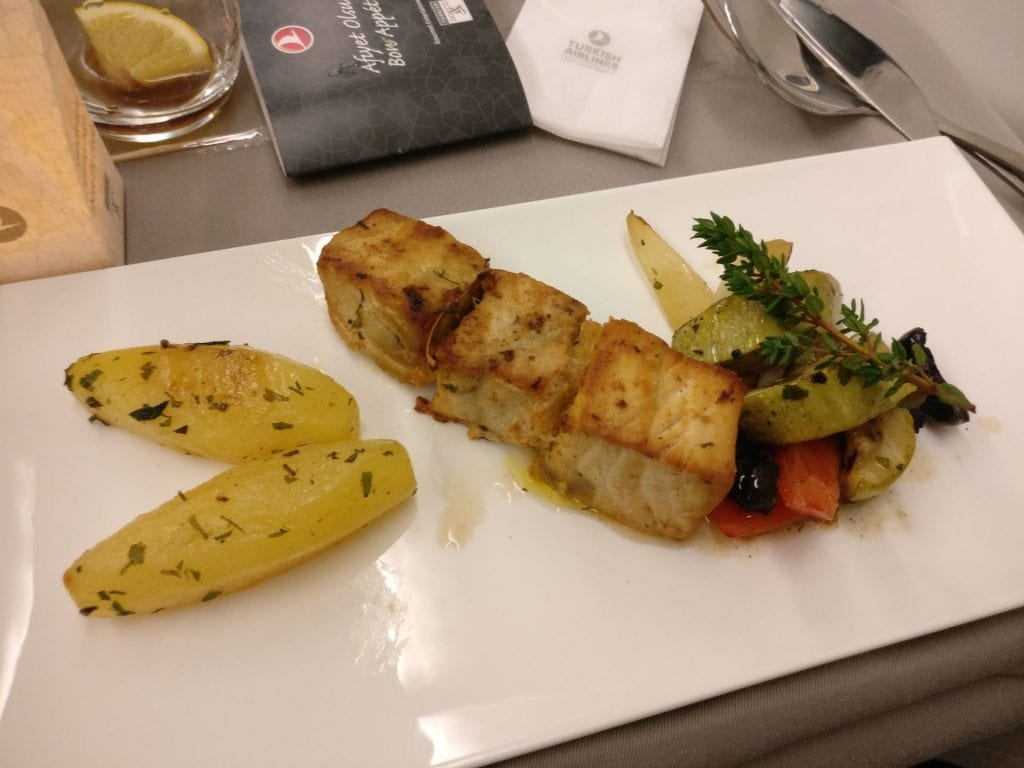 Turkish Airlines Business Class Airbus A330 Dinner 6