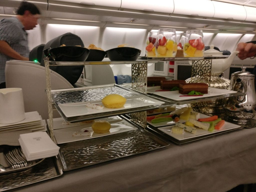 Turkish Airlines Business Class Airbus A330 Dinner 7