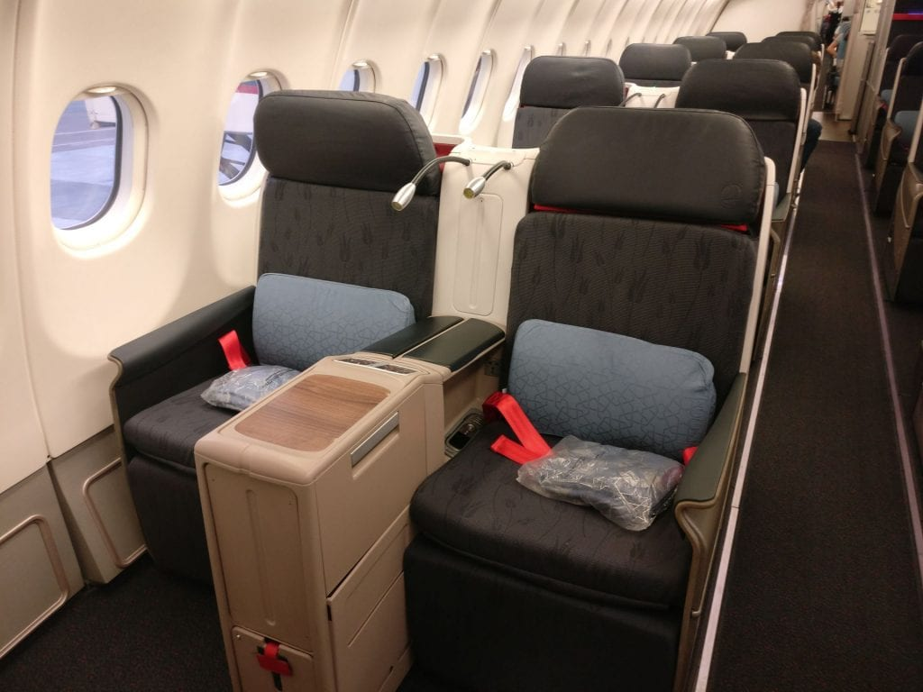 Turkish Airlines Business Class Airbus A330 Seat 2