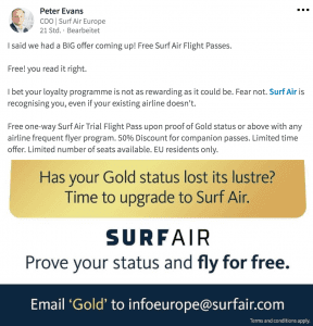 surf air angebot