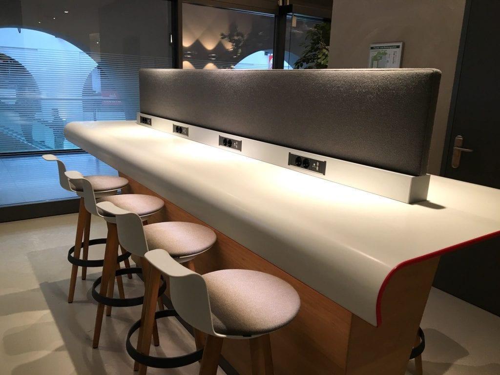DB Lounge Nürnberb Arbeitsbereich