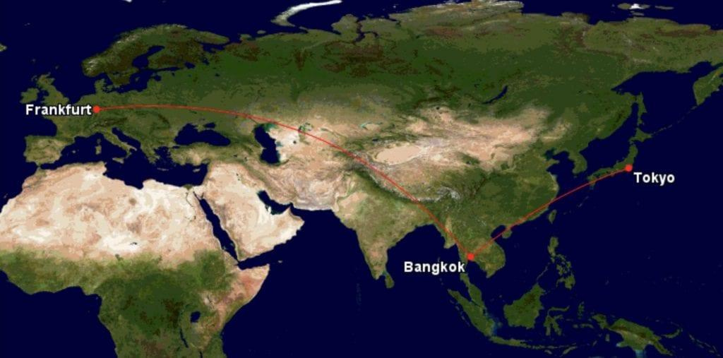 Drei Regionen Award Miles and More Tokyo Bangkok