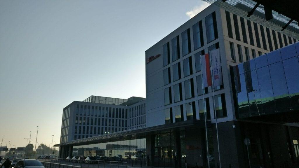 Hilton Garden Inn Krakau Airport Gebäude Außen