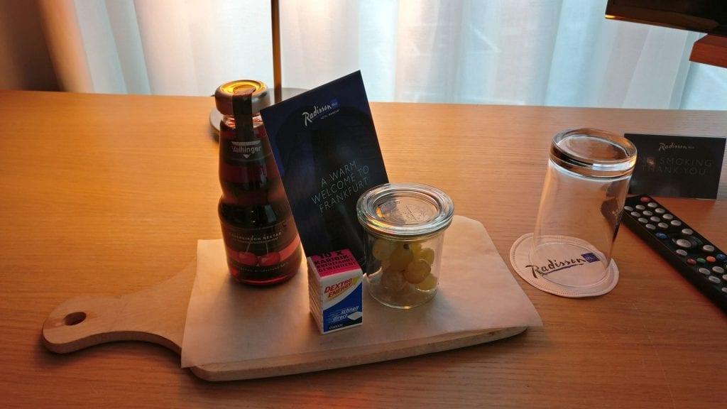 Radisson Blu Frankfurt Willkommensgeschenk