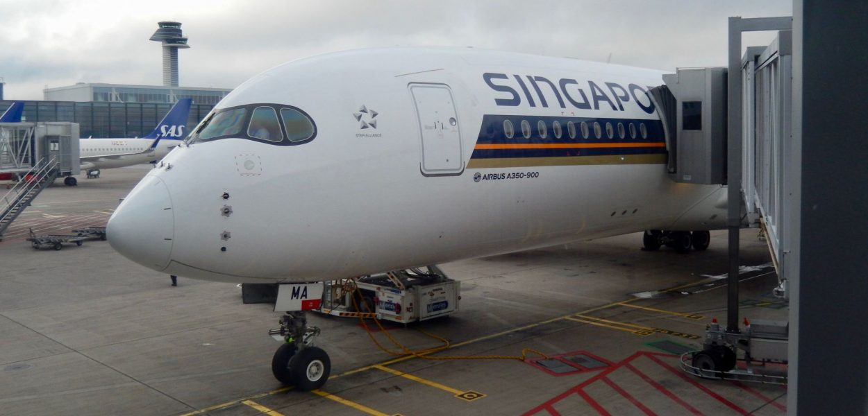 Singapore Airlines Business Class Airbus A350 Flugzeug