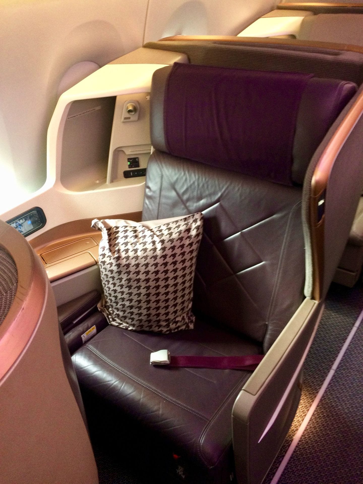 Singapore Airlines Business Class Airbus A350 Sitz