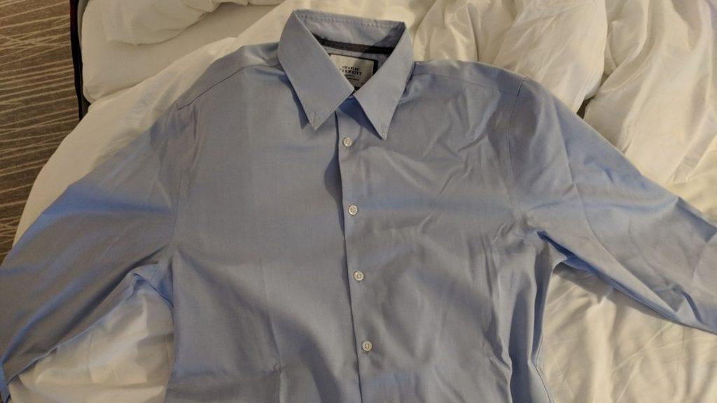 Travando Hemdentasche Hemd Falten