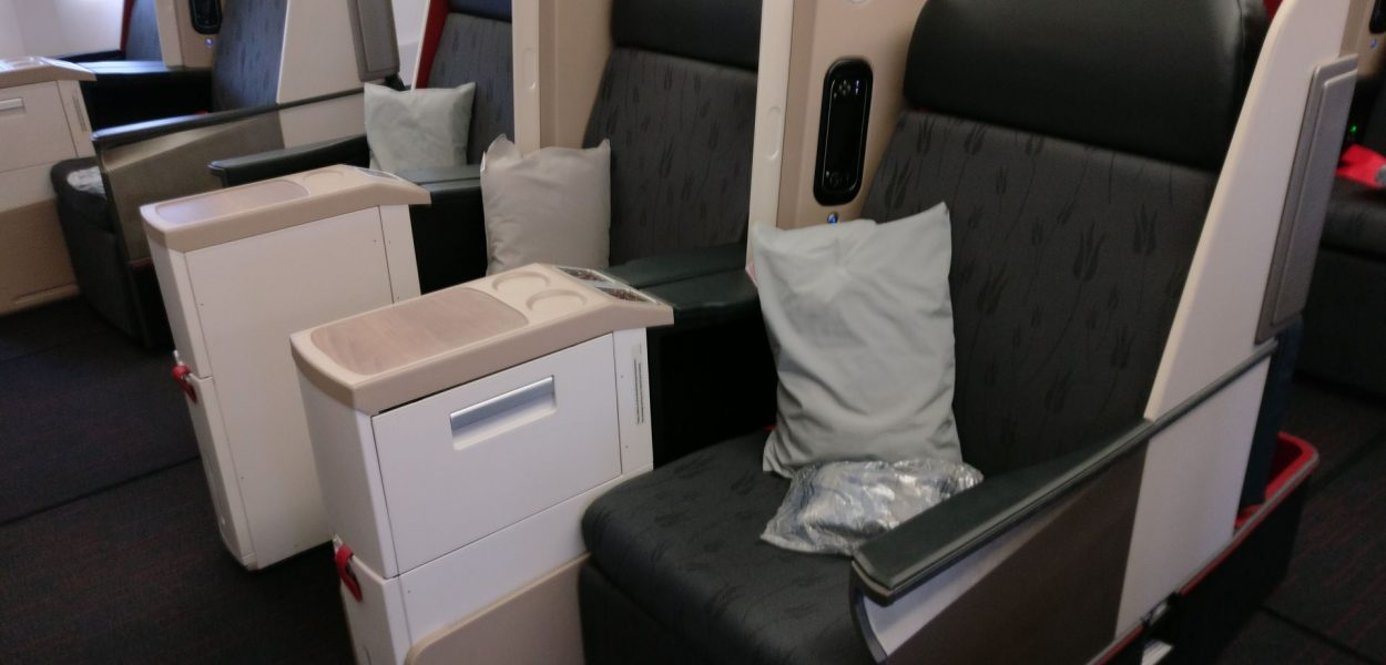 Turkish Airlines Business Class Boeing 777 Cabin