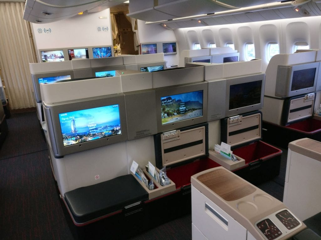 Turkish Airlines Business Class Boeing 777 Cabin 2