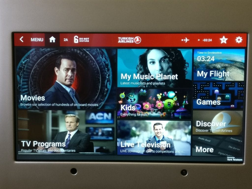 Turkish Airlines Business Class Boeing 777 Entertainment 2