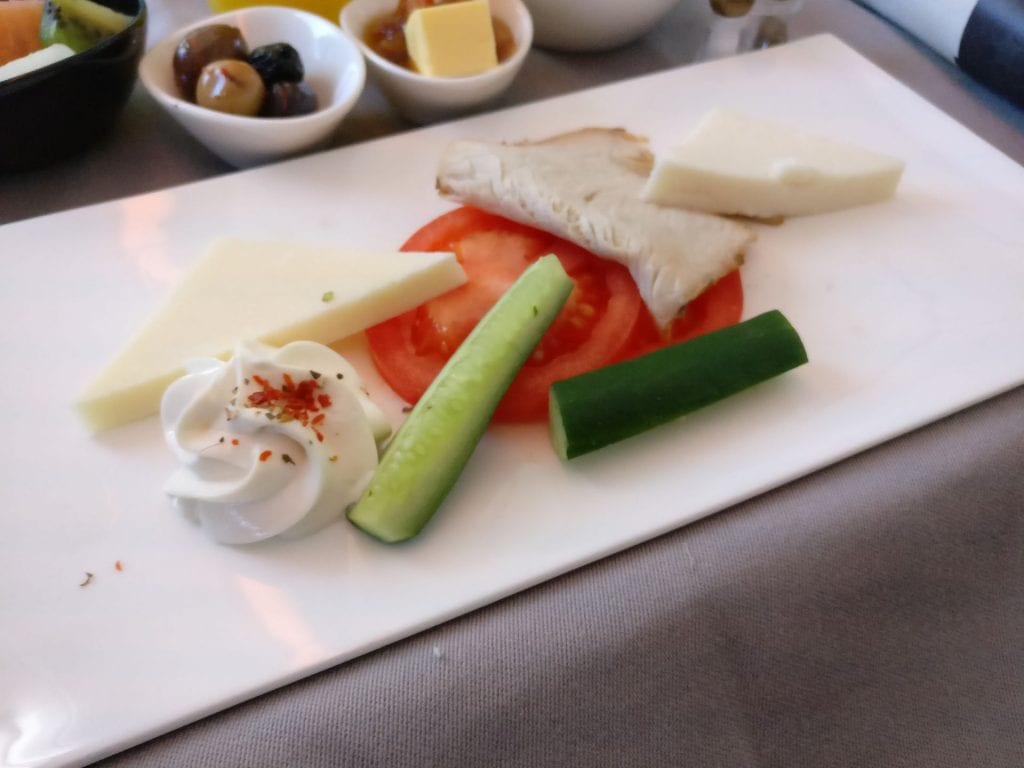 Turkish Airlines Business Class Breakfast 2