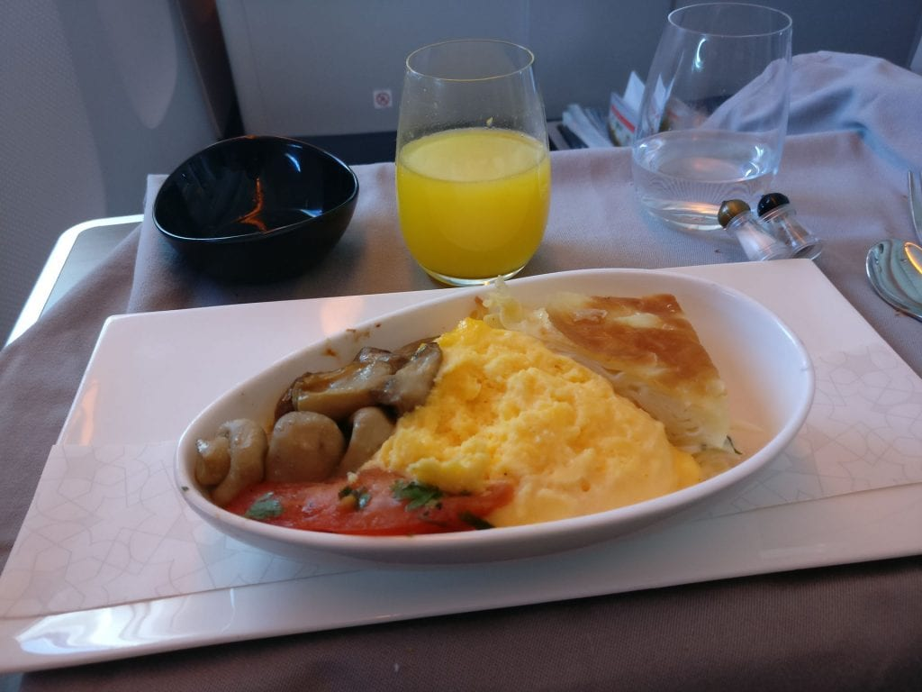 Turkish Airlines Business Class Breakfast 6