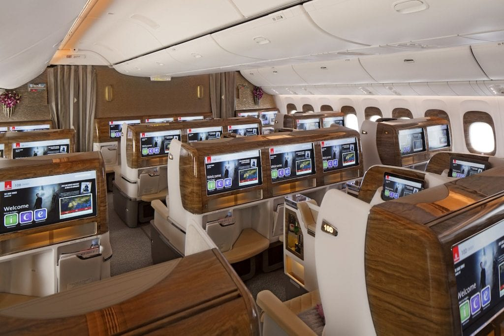 Emirates Skywards Melien in der Business Class sammeln