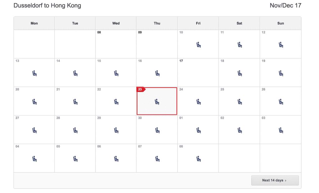 oneworld prämiensuche qantas kalender