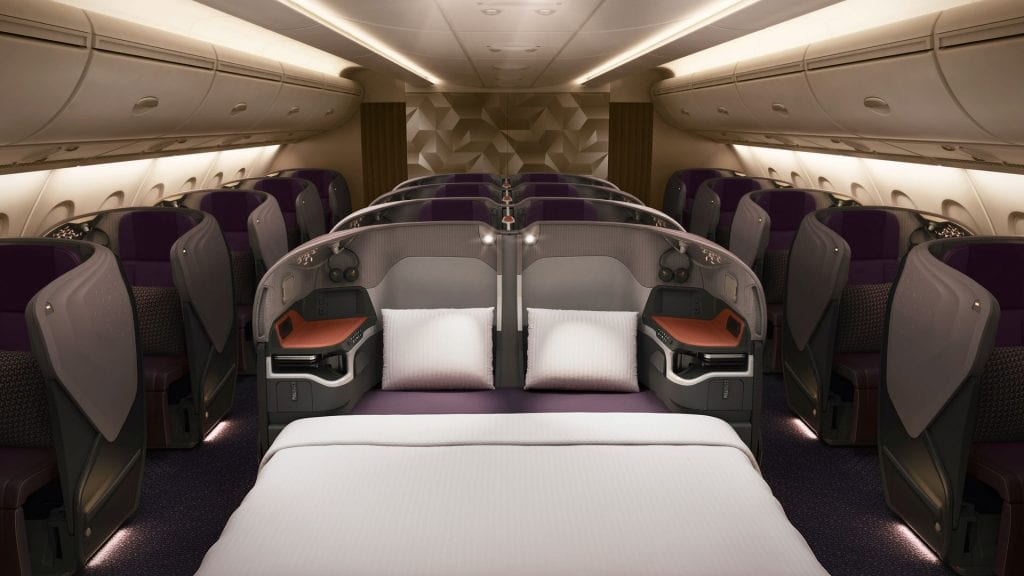 singapore airlines business class neu a380