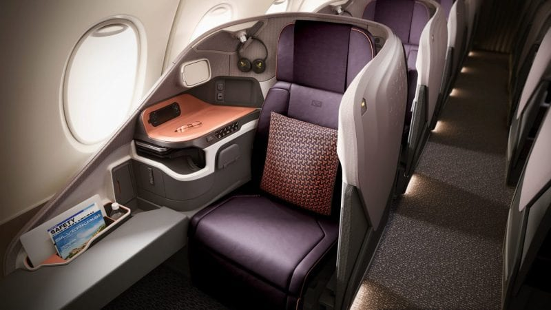 singapore airlines business class neu a380