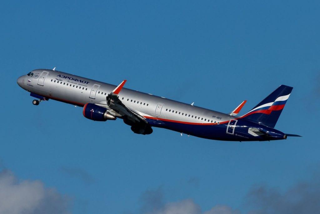 Aeroflot Airbus A321 Start