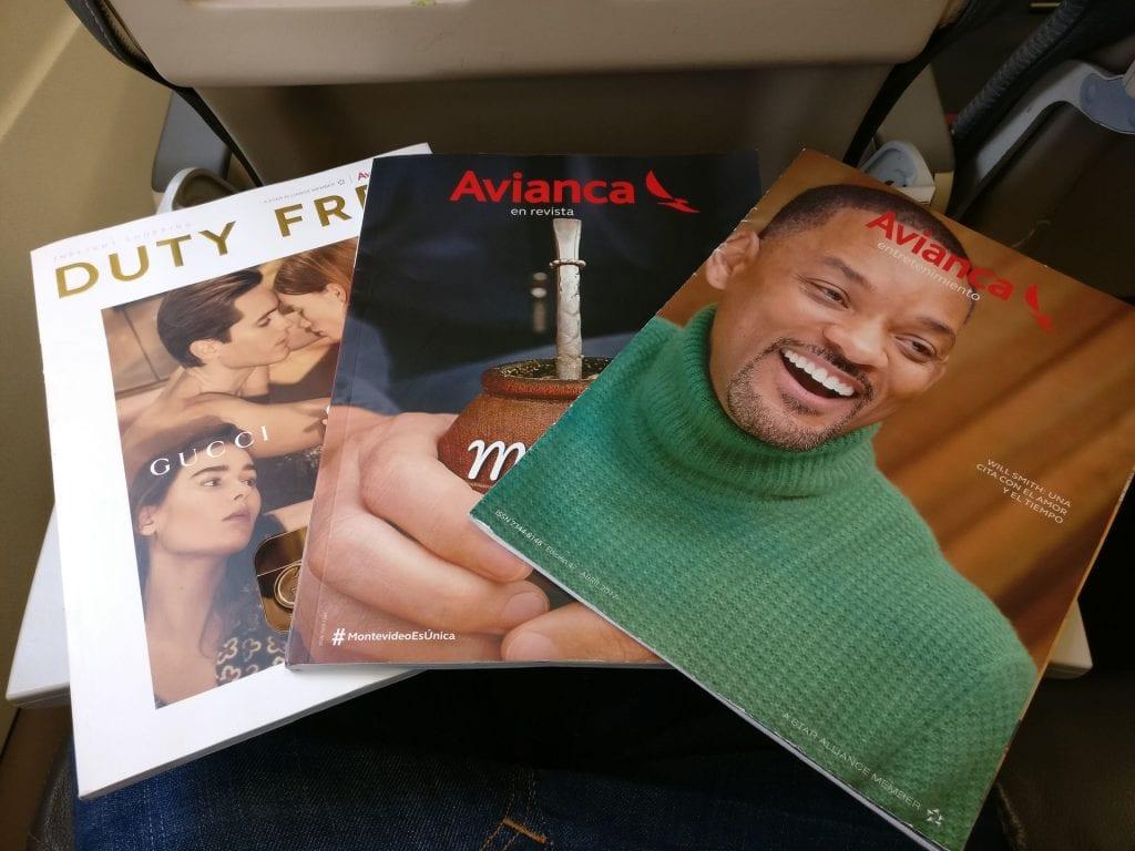 Avianca Economy Class Airbus A320 Magazines
