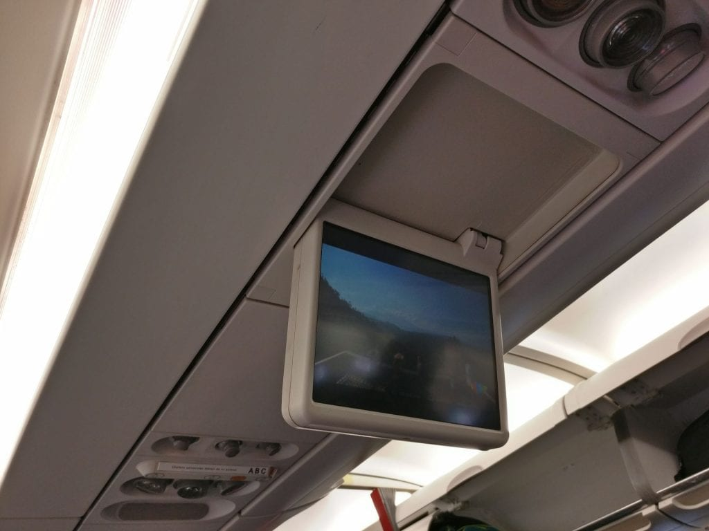 Avianca Economy Class Airbus A320 Screen