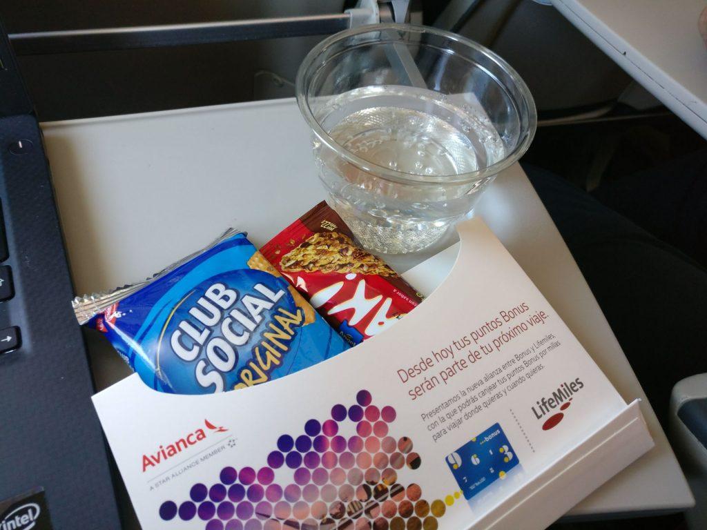 Avianca Economy Class Airbus A320 Snack