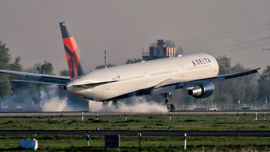 Delta Boeing 767 Landung