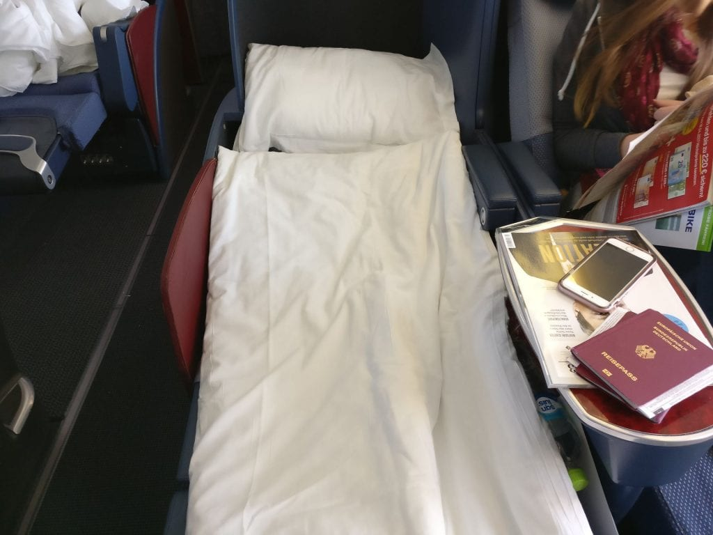 LATAM Business Class Boeing 767 Bed 2