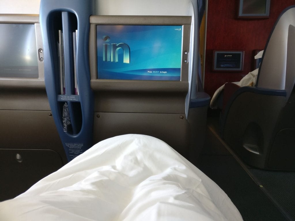 LATAM Business Class Boeing 767 Bed 3