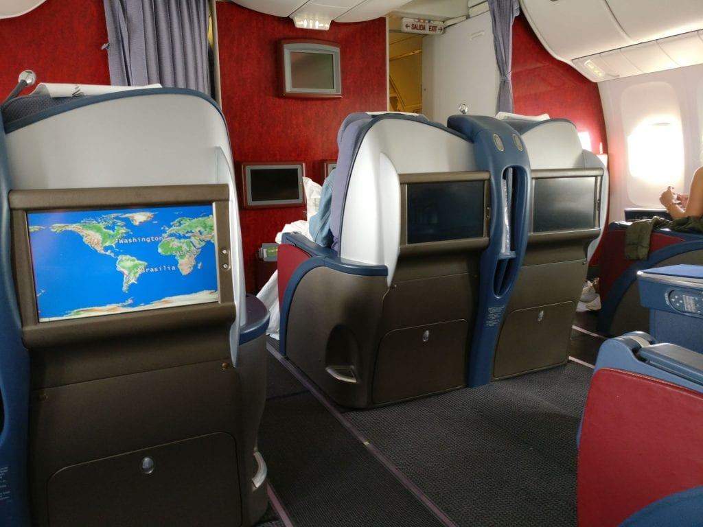 LATAM Business Class Boeing 767 Cabin